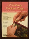 finishing hooked rugs